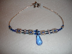 Blue princess necklace